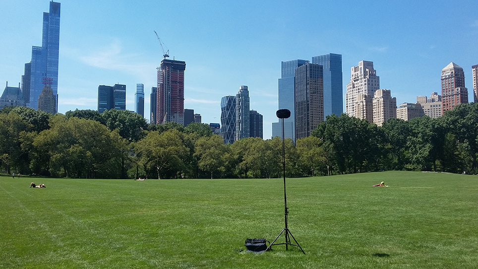 Recording in Central Park