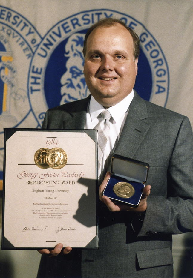 Mike accepting Peabody Award in New York for Bradbury 13.