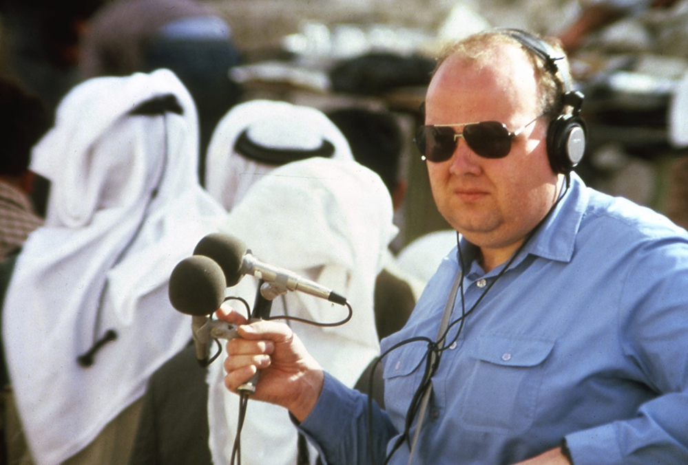 Recording Arab Sheep Market in Jerusalem 1985.