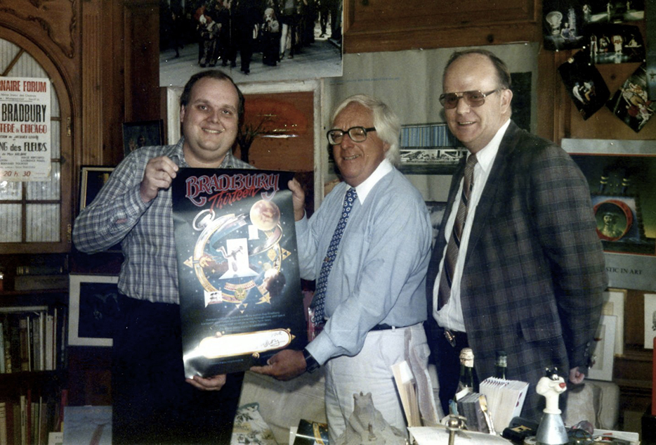 With Ray Bradbury in his office.